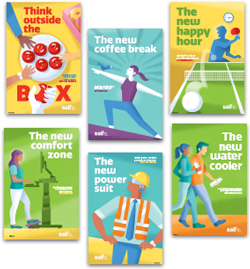"""Healthy is the new safe"" poster series"