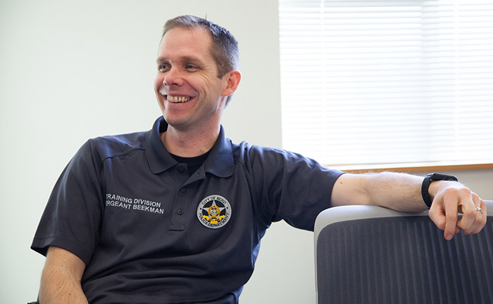 "Lt. Brian Beekman led the development of the Bend PD's wellness program. ""If we expect perfection with no mistakes, we need to build these health components with a fresh perspective,"" he says."